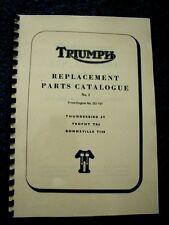 TRIUMPH  6T TR6 T120 PARTS BOOK MANUAL No.1 1963 - TP30