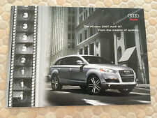 AUDI OFFICIAL Q7 4.2L Q7 3.6L PROMOTIONAL DVD & SALES BROCHURE 2007 USA EDITION