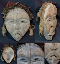 Art Africain Masque très ancien Lega Congo force brute primaire patine ancienne