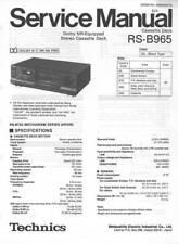 TECHNICS RS-B965 RS B 965 CASSETTE - SERVICE MANUAL COLOR VERSION - REPAIR - DBX