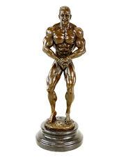 Bodybuilder Figur Arni aus Bronze - Trophäe - Pokal - signiert Milo