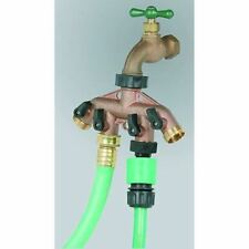 Garden Hose Spigot Splitter Multiple 4 Way Outlet