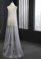 One Layer Wedding Veil Cut Edge White Ivory Long Bridal Accessories Comb Elegant