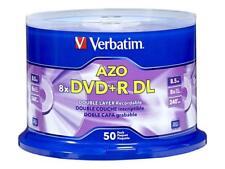 50-pk Verbatim Dual Layer DVD+R Cakebox - 8x 8.5 GB 240 mins w AZO #97000