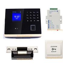 Smart Time Attendance Recorder Clock Bio Face+Fingerprint+Password Strike Access