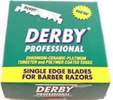100 Derby Professional Platinum Coated Edges Half Barber Razor Blades USA SELLER