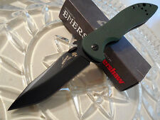 Kershaw Emerson CQC-5K OD G10 Drop Point Folder Knife Pocket Spur Open 6074OLBLK