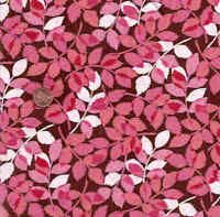 In the Pink brown pink leaves Moda fabric