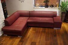 "Echleder Ecksofa "" London Pik"" 275 x 185 Leder Sofa Eck Couch Garnitur Volleder"