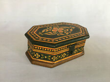 (02). An Old Look Hand Crafted & Hand Painted Color Small Wooden Box