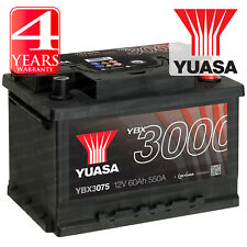 Yuasa Car Battery Calcium SMF /& SOCI 12V 550CCA 60Ah T1 For Rover MGZS 1.8 120