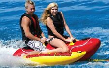 Towable Inner Tube Towing Water Sports Inflatable Silly Hot Dog Design 2 Riders