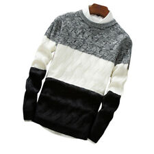 LK _ Hombre punto jersey abrigo manga larga cuello redondo Entallado Rapt