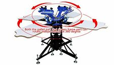 4 Color 4 Station Silk Screen printing Machine Printing Press T-shirt Printer