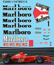 1/18 Ferrari F1  F2000 Michael Schumacher Decals TB Decal TBD113