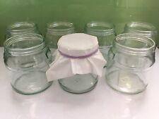 8 Glass Yoghurt Pots Glass Craft Jars Tea Light Panna Cotta Deserts Yeo Valley