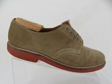WALKOVER Suede Tan Sz 8.5 D/B Men Plain-Toe Oxfords