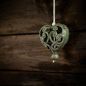 Keramik Herz für Fenster/Tür Dekoration | Olive | Aufhängen | Geschenkidee