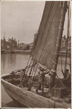 Dulwich posted ? Thames River Scene & ? Sailing Barge.