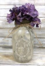 CUSTOM FOR mcvickchic: Red Painted Mason Jar Rustic Decor Farm Decor Vase