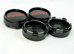 4x66mm Rays Wheel Center Caps Rim Cap Japan Tokyo Rim TE37 Time Attack Black Red