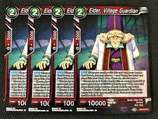 4x Elder, Village Guardian BT7-017 C Dragon Ball Super TCG NEAR MINT