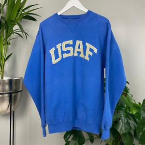 Vintage United States Airforce Spellout Blue Sweatshirt USAF