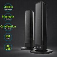 Standlautsprecher HiFi Anlage Boxen Paar Bluetooth Heimkino Stereo TV Subwoofer