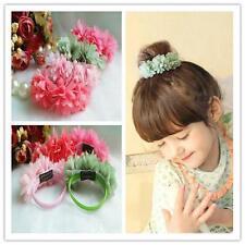 Hair Accessories Baby Chiffon Flowers Rubber Bands Barrettes Headwear