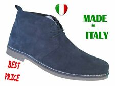 POLACCHINE SCARPE UOMO BEIGE O BLU MADE IN ITALY PELLE  40 41 42 43 44 45 PELLE-