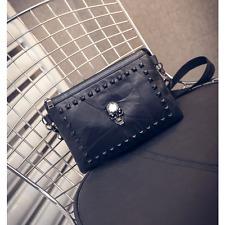 Womens Metal Skull Purse Messenger Crossbody Shoulder Bag Handbag Satchel Clutch