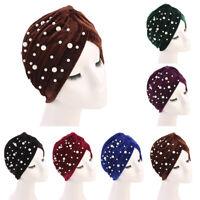 India Muslim Women Velvet Cancer Hat Chemo Cap Hair Loss Scarf Turban Head Wrap