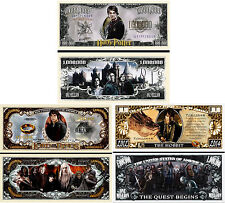 Magical Adventures Set of 3 Million Dollar Bill Novelty Notes with Protectors