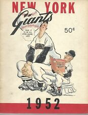 ESTATE SALE 1952 New York Giants Yearbook Willie Mays Beautiful Condition