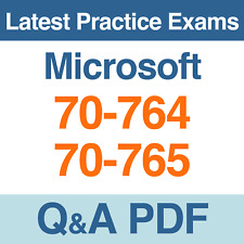 Microsoft SQL Server 2016 Certification 70-764 & 70-765 Practice Exams Q&A PDF