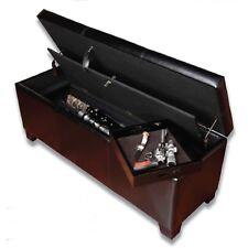 Gun Concealment Rifle Hider Bench Box Case Storage Furniture Security Lock Safe