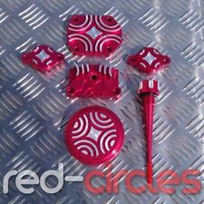 RED PIT BIKE CNC DRESS UP BLING KIT FITS YX125, YX140 PITBIKES