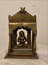 1800 Antique Brass Hand Carved Hindu Buddha Sculpture Rare Swing Temple