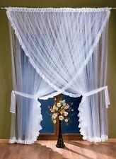"""Beautiful Net Curtains White Organza 300x250cm 118""""x 98"""""""