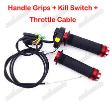 Motorized Bicycle Hand Grips Throttle Cable Kill Stop Switch 49cc-80cc Push Bike