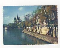 Paris Les Quais De La Seine & Notre Dame France 1969 Postcard 190b