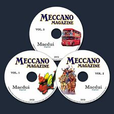 Meccano Magazines 650 Issues 1916 - 1981 on 3 Data Dvd's Manuals/plans/construct