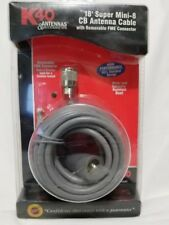 K40 18' Super Mini-8 CB Radio Antenna Cable with Removable FME Connector
