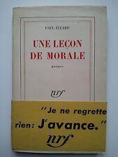 """Paul ELUARD """" Une lecçon de morale """" E.O. Gallimard, 1949 + Bande annonce"""