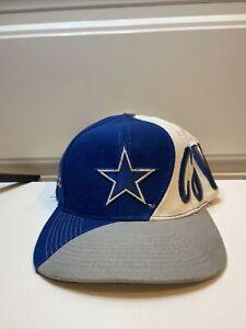 Vintage Dallas Cowboys SnapBack 90s Hat Team NFL Cap wave design