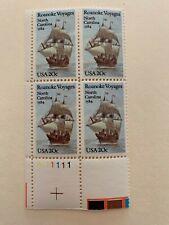 US Stamps SC# 2093 Roanoke Voyages PB 20c MNH 1984