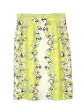 NEW Erdem silk green/yellow multicolour skirt