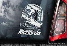 DANIEL RICCIARDO-Finestra Auto Adesivo-F1 progettazione CASCO FORMULA 1 RED BULL-TYP2