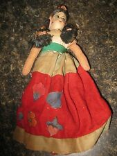 Vintage Cloth Girl Doll Ethnic Beautiful
