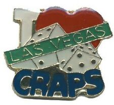 Hat Lapel Push Pin Tie Tac City Las Vegas Craps NEW